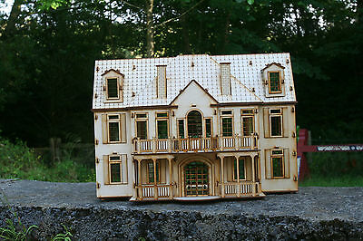Laser cut ply wood wooden Model KIT Manor House Mansion