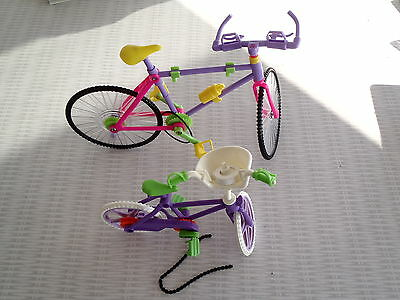 1990s Mattel/Barbie Doll (2) Bicycles