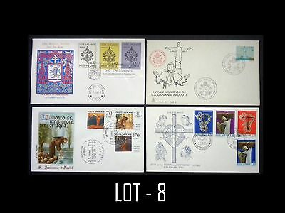 Vatican City 4 First Day Cover Lot. Free Shipping. L/8
