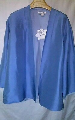 Shomi  Womens 100% Silk Lined Jacket Light Blue Size 16 New With Tags