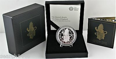 2017 Royal Mint Queen's Beasts- The Lion of England 1oz Silver Proof £2 Coin COA