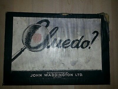 Vintage Waddington's Cluedo  Game  without board with  weapons