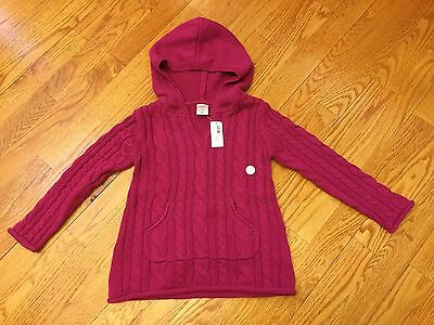 NEW Old Navy Toddler Girls Sweater With Hoodie, Size 4T