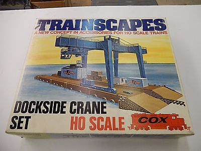 SEALED COX MIB Trainscapes Dockside Truck Container Crane Set HO Scale 1974
