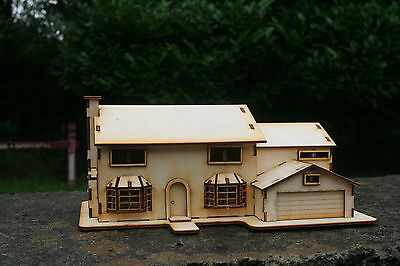 Laser cut ply wood wooden house Simpsons model Kit