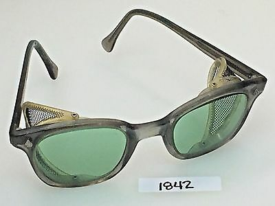 Vintage AO American Optical Green Glass Safety Goggles