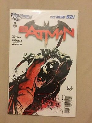 Batman #3 - New 52 - 1st Print - Unread - Bagged and Boarded