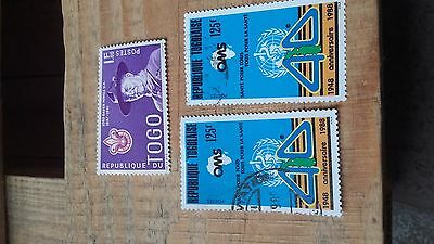 3 timbres stamps Togo