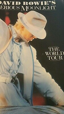DAVID BOWIE SERIOUS MOONLIGHT THE WORLD TOUR 1984 First Edition Book