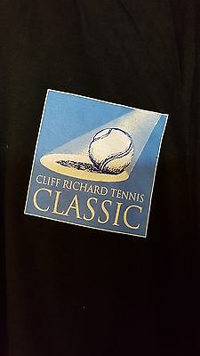 Cliff Richard T Shirt from Tennis Classic size L