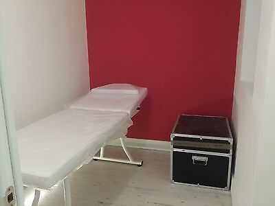 Used Beauty Salon Massage Table White Beds Facial Couch Large Solid Comfortable