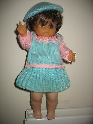 """Vintage Doll with Knitted Outfit Height: 40cm (16"""")"""
