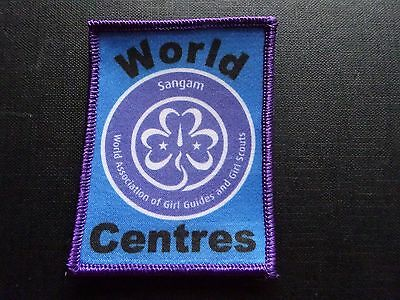 World Centres  badge Girl Guiding sew on badge / patch