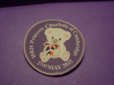 HRH Princess Charlottle of Cambridge 2nd May 2015, sew on badge / patch