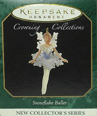 1997 Hallmark Snowflake Ballet Miniature Ornament 1st in Series Snow Ballerina