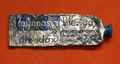 Original  Wehrmacht Wwii Toothpaste Blendax  Tube With Stopper