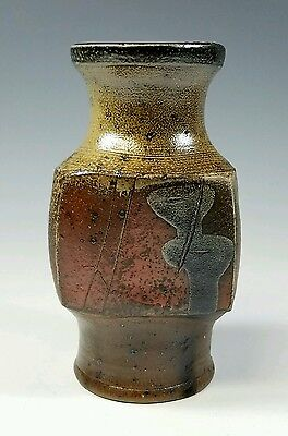 Gustav Triffochi  - Vintage French Modernist Studio Art Pottery Sculptural Vase