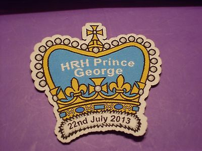 HRH Prince George 22nd July 2013 , sew on badge / patch