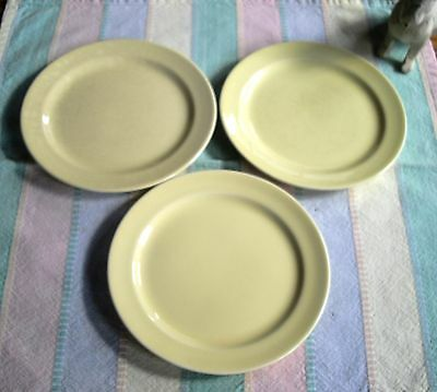 Vintage TS&T Lu-Ray Pastels Yellow Bread & Butter Plates  ~ Set of 3 ~
