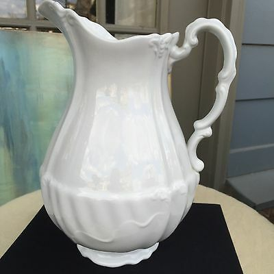 Antique White Ironstone Pitcher