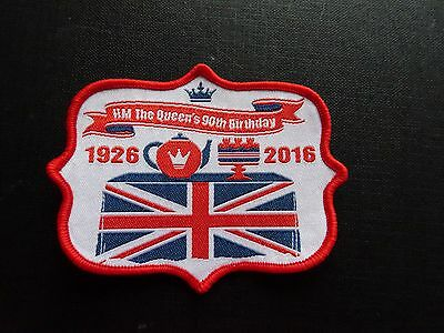 HM The Queen's 90th Birthday 1926 - 20016 sew on badge / patch