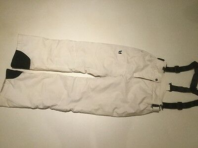 ladies ski snow board salopettes size 12 Vuarnet cream