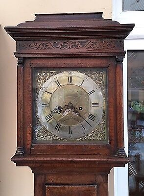 Antique Grandfather Clock By Wilson Of Askrigg 18 Century 8 Day