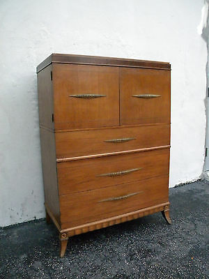 Tall Vintage Mahogany Chest of Drawers by the Empire Manufacturing Co. 5049