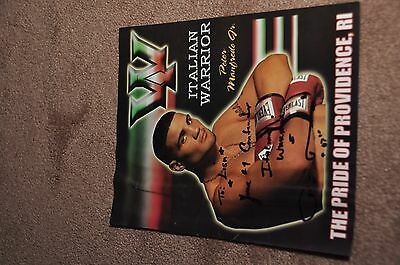 Pete Manfredo Jnr - Boxer - Hand Signed Picture