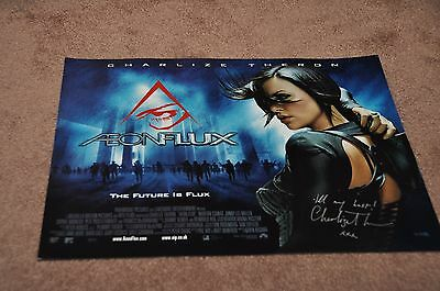 Charlize Theron Hand Signed 'aeonflux' Movie Poster
