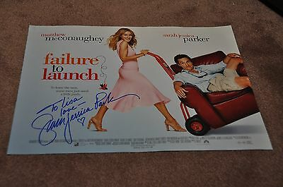 Sarah Jessica Parker Hand Signed 'failure To Launch' Movie Poster