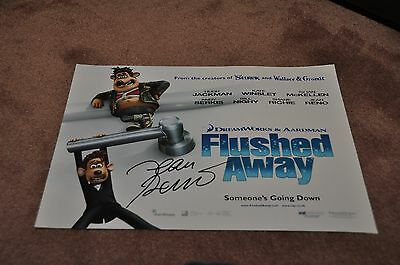 Jean Reno Hand Signed 'flushed Away' Movie Poster