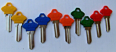Locksmith LOT of 10 - Key Blanks for  SCHLAGE lock   SC1      5 Colors 2 each