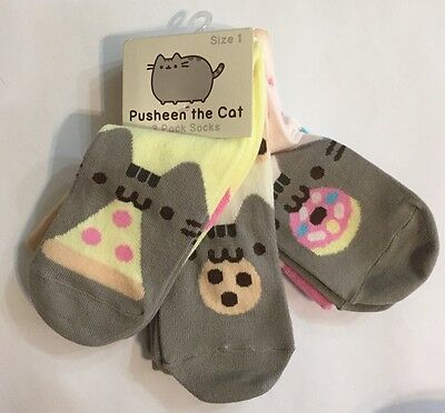 Pusheen the Cat 3 Pack Socks size 1 from 2016 Spring Pusheen Box NWT