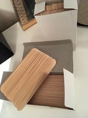 2 Boxes Of Wooden Waxing Spatulas