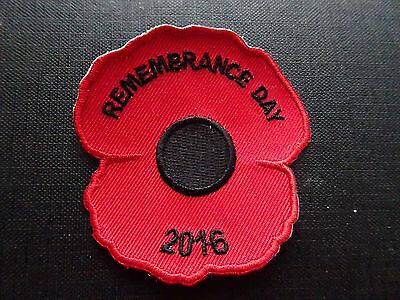 Remembrance Day 2016 Poppy badge / patch girl guiding