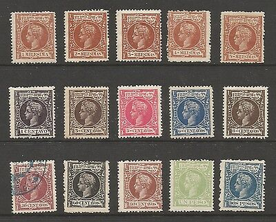 Philippines Stamps  #192 // #210 Partial Set From 1898 MH Except 1 CV $113 L87