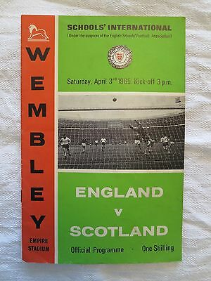 Programme For England V. Scotland Schools International, 3 April 1965