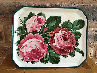 Superb Antique Victorian 1899 Wemyss Ware Fife Pottery Cabbage Rose Comb Tray