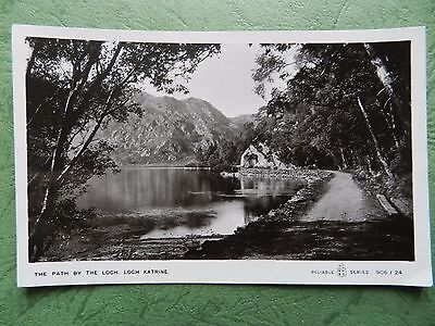 Vintage Real Photo Postcard - The Path By The Loch , Loch Katrine