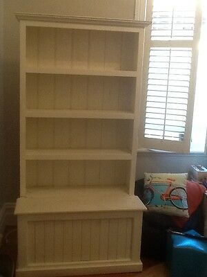 Cute White Wooden Bookcase with Generous Storage
