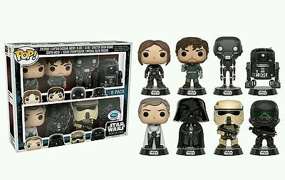 funko pop limited edition star wars rogue one 8 pack