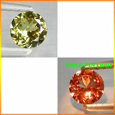 0.50Ct EXTREME Quality Gem - Natural Olive Yellow 2 Red Color CHANGE GARNET QB10