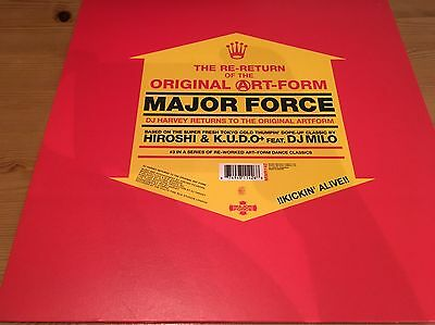 "Major Force -The Re-Return Of The Original Art-Form (DJ Harvey) 12"" Mint mo wax"