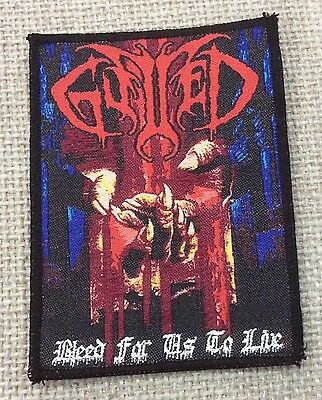GUTTED Woven Patch immolation Sadus sepultura death priest Kreator sodom venom