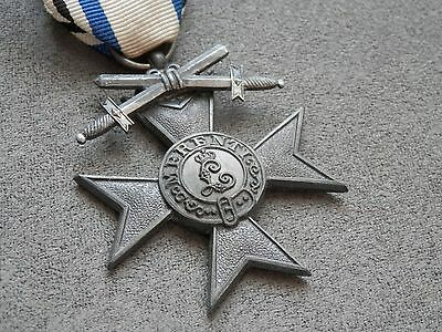WW1, Original Bavarian Military Merit Cross with Swords, rare zinc type, #2