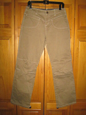 Kuhl hiking pants jeans women's 8 brown camping outdoors casual