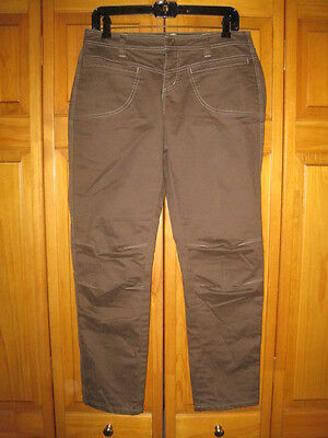 Kuhl hiking pants jeans women's 10 brown camping outdoors casual