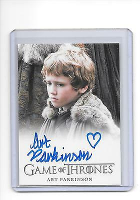 Game of Thrones Season 1 Art Parkinson as Rickon Star Full Bleed Auto Autograph