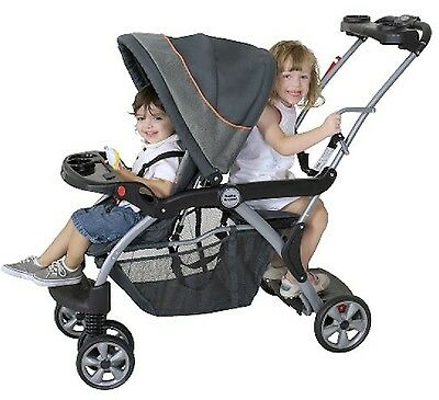 Two Kids Stroller For Baby And Toddler Two Children Plus Infant Car Seat 3 in 1